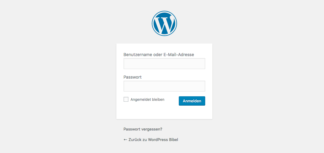 WordPress-Backend → Login