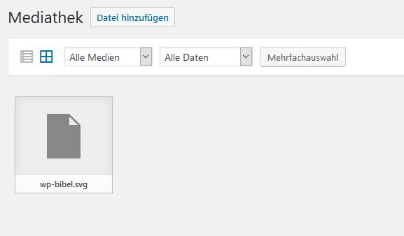 Upload von SVG-Dateien