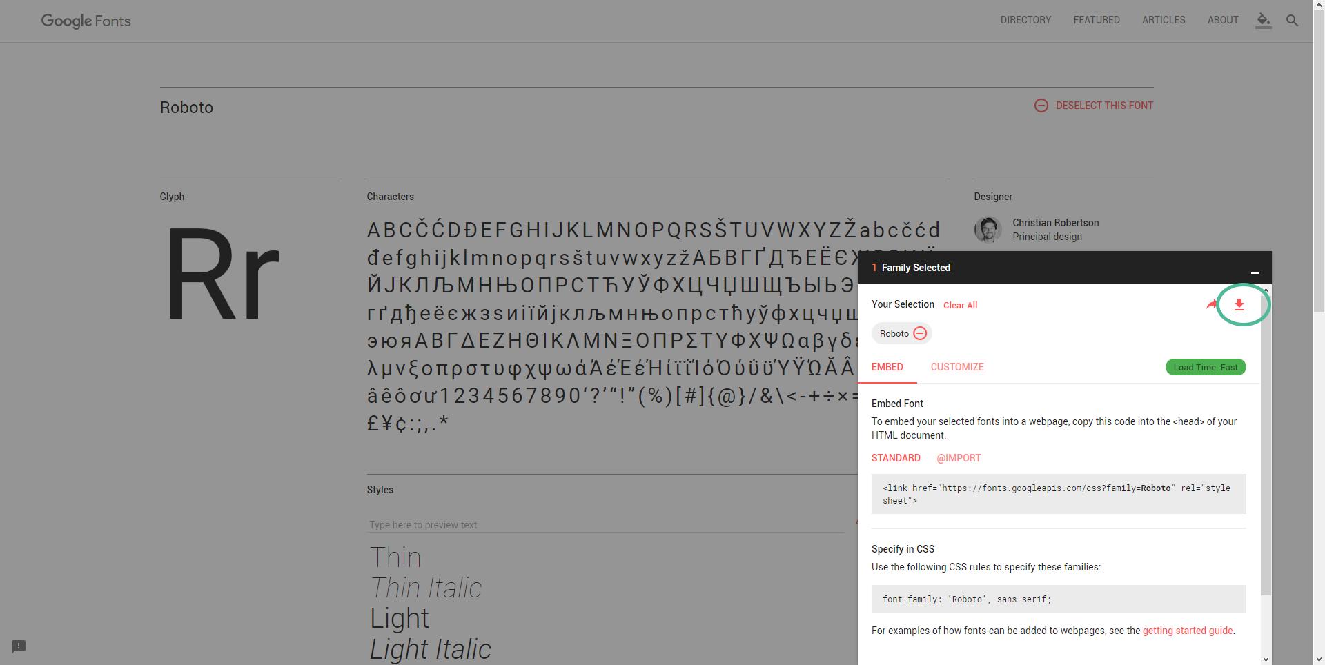 Google Fonts auf dem eigenen Webserver 02